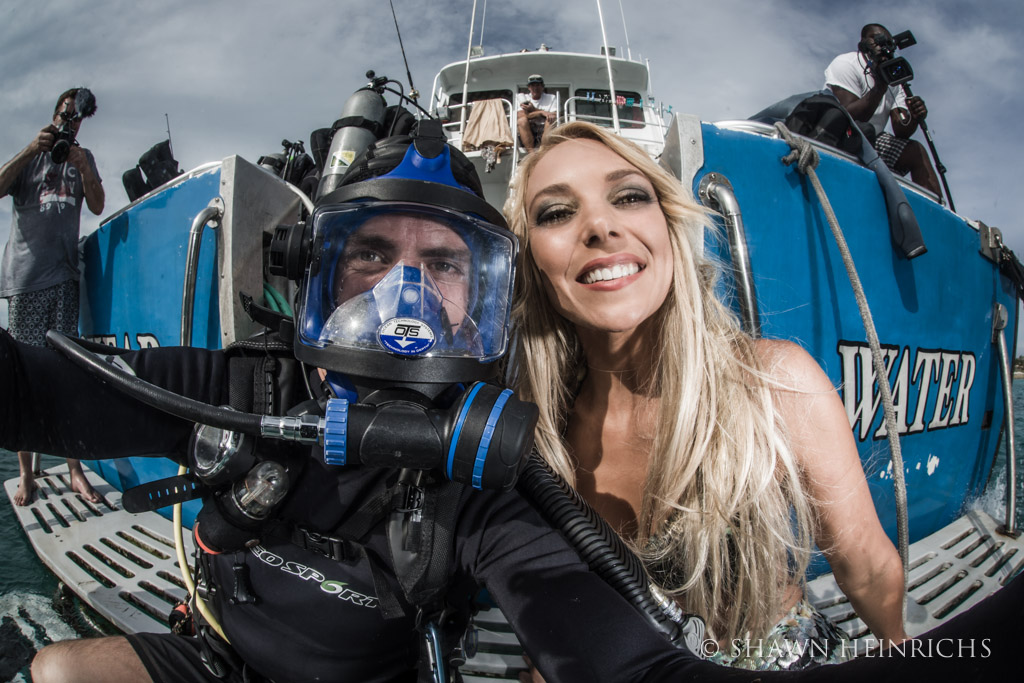 Shawn Heinrichs and Hannah Fraser ready for a big day of shooting