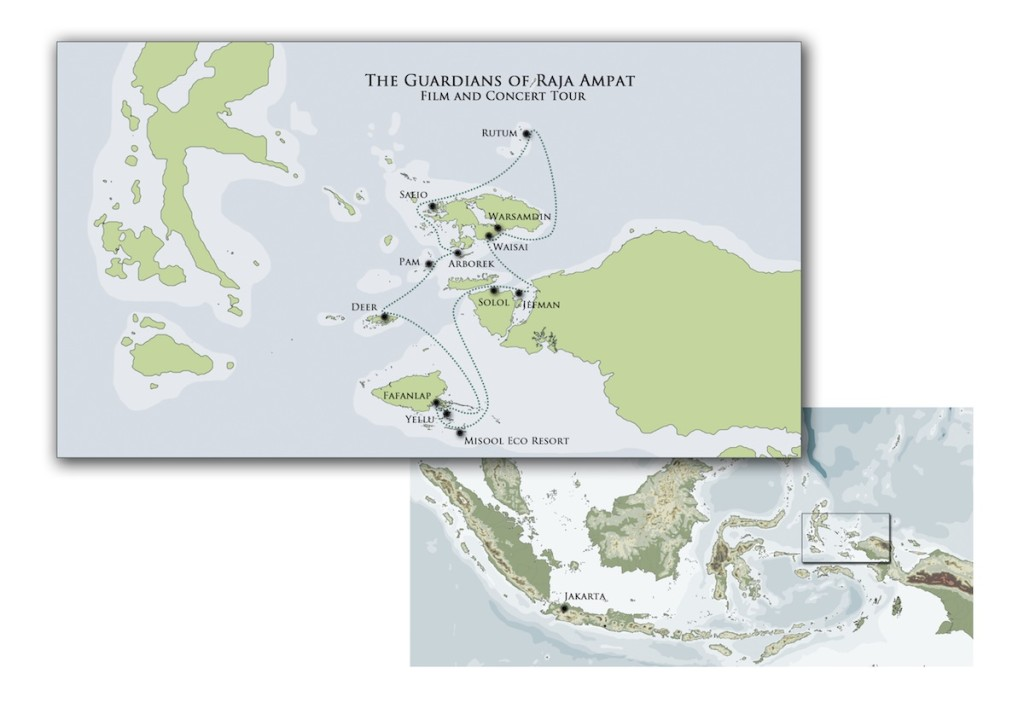 Guardians of Raja Ampat Tour Map sm